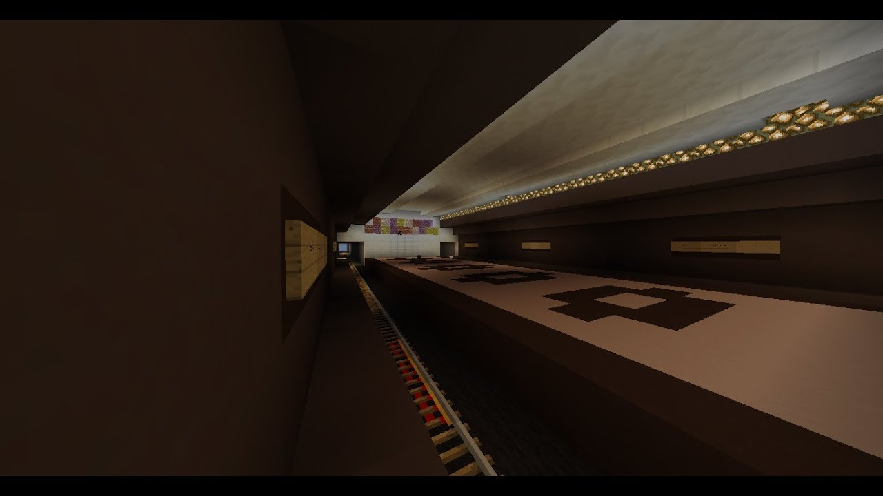Станция метро в майнкрафт