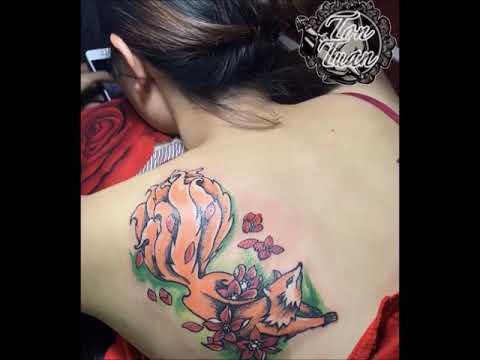 TattooTonTuan ( hình xăm hồ ly 9 đuôi)