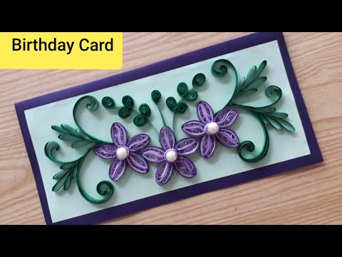 How To Make Quilling Card For Birthday| Handmade Birthday Card Idea For Best Friend| #Quillingideas