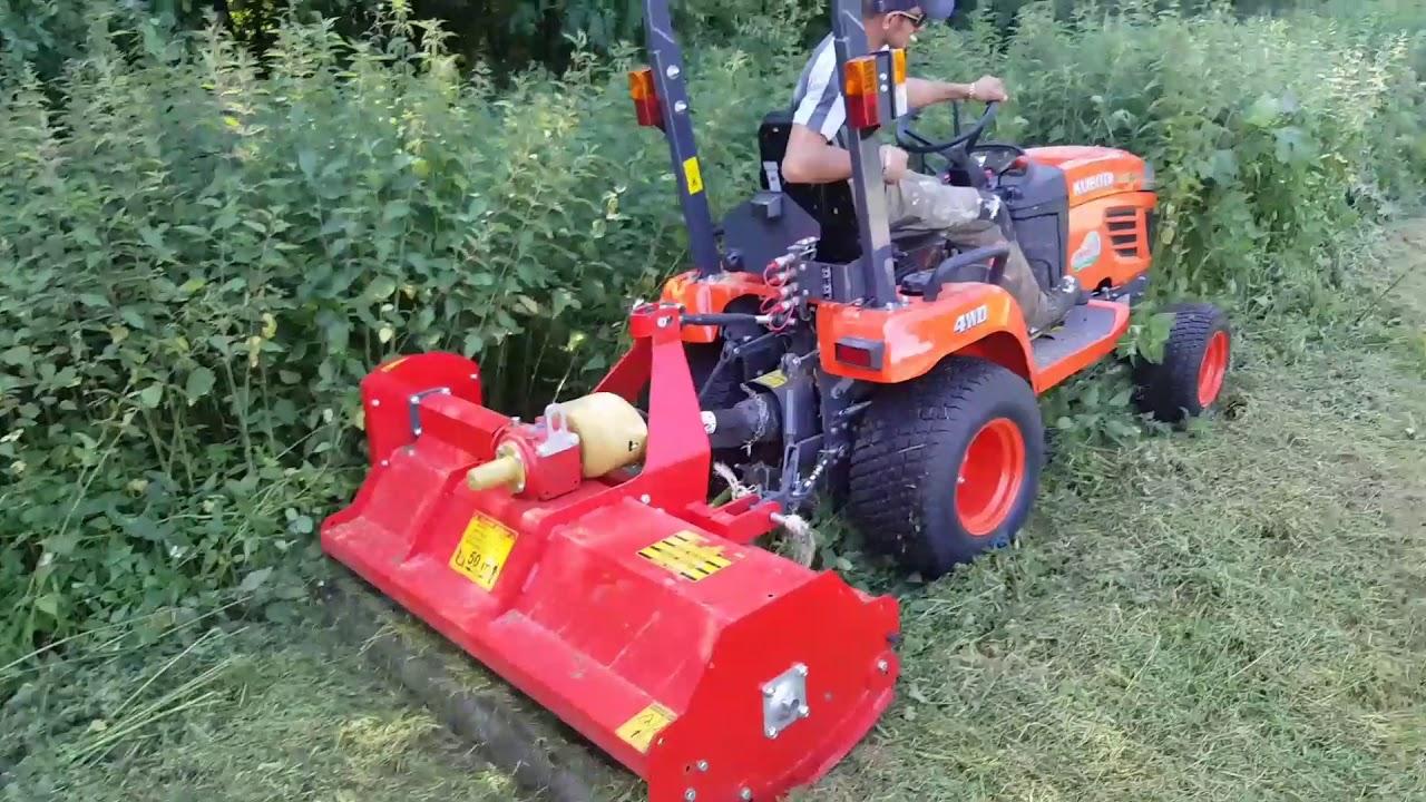 Tracteur Kubota Bx2350 Avec Broyeur Youtube
