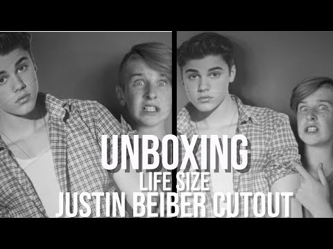 UNBOXING LIFE SIZE JUSTIN BIEBER CUTOUT   Will B13