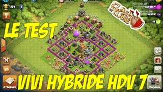 [Clash of Clans] Test village HDV 7+ Propulseur d'air