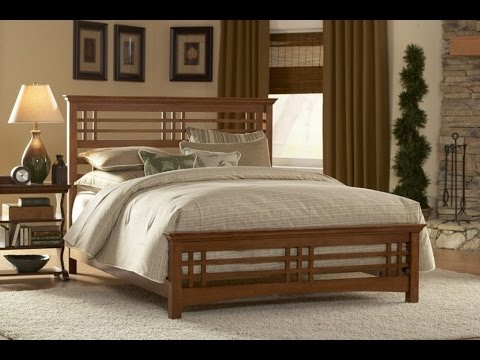 Wooden bed design for bedroom ideas youtube for Bed design photos