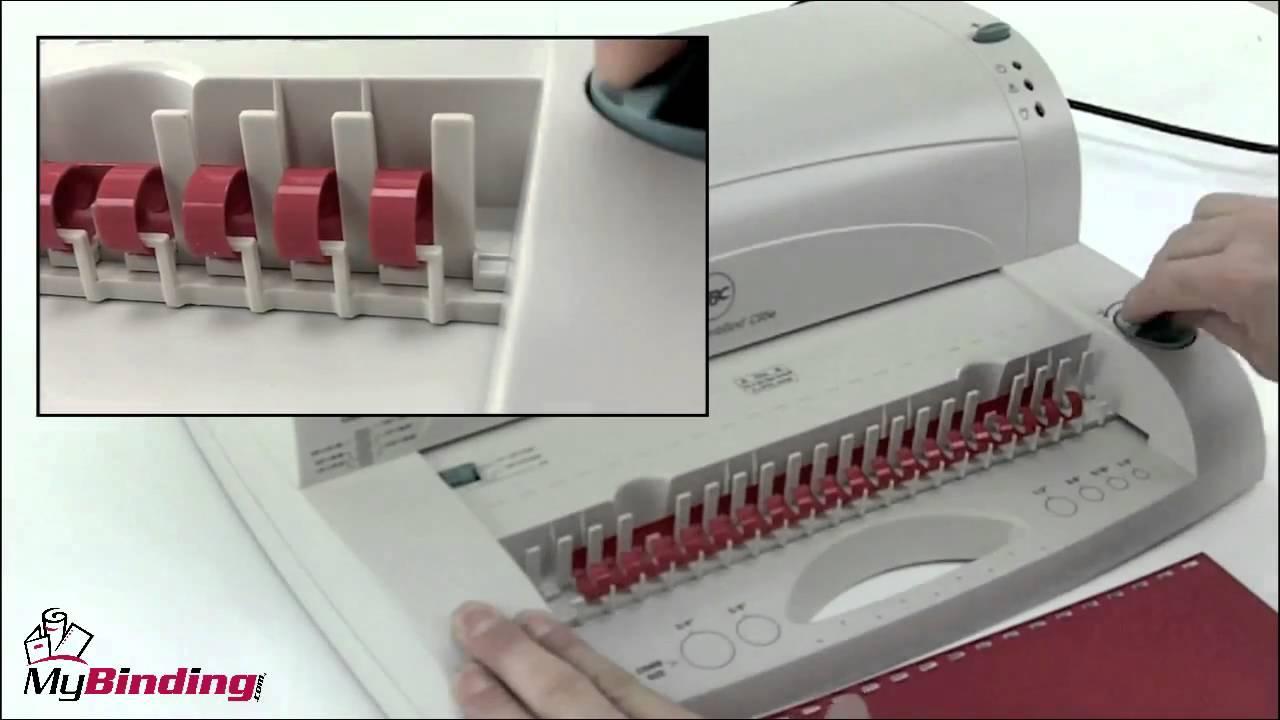 GBC CombBind C95e Electric Comb Binding Machine Review - 7705600