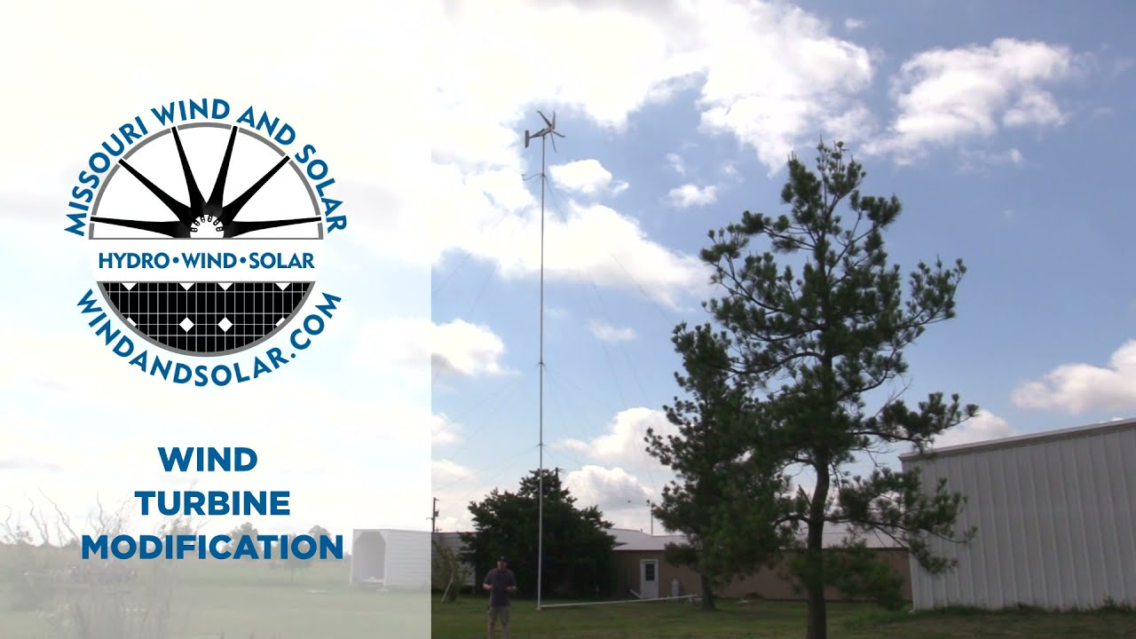 Wind Turbine Tower Modification   Missouri Wind and Solar