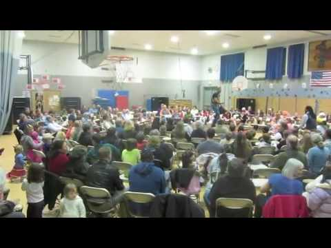 Community Drumming at Friday Harbor Elementary School
