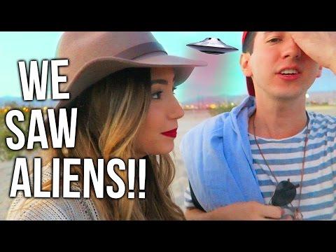 WE SAW A UFO!!!