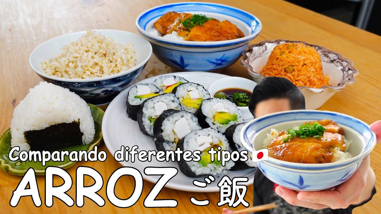 Cómo preparar diferentes tipos de ARROZ | Gohan, Sushi, Arroz Rojo, Onigiri | Cocina japonesa