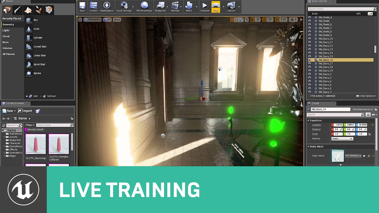 Intro To Level Design Live Training Unreal Engine Youtube