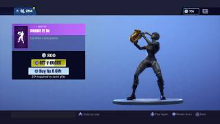 FORTNITE NEW PHONE IT IN EMOTE! ITEM SHOP UPDATE!