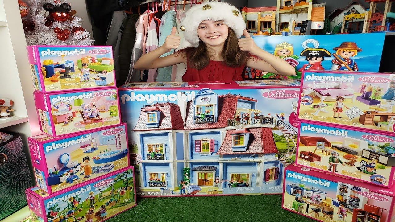 playmobil unboxing la nouvelle maison dollhouse playmobil 2020 avec ses accessoires