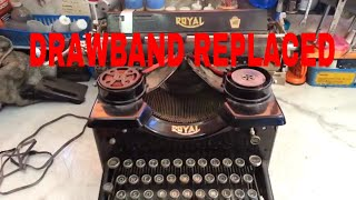 Royal 10 Vintage Manual Typewriter Drawband Repaired Replaced Carriage Movement Serviced