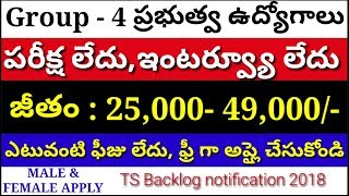 Group 4 recruitment notification 2018 | junior assistant typist jobs | Nizamabad group 4 jobs 2018
