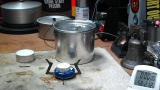 WetFire Stove - Tea Candle - Boil Test #2 - Reloaded