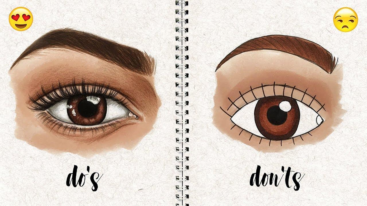 Do S And Don Ts How To Draw Semi Realistic Eye Natalia Madej