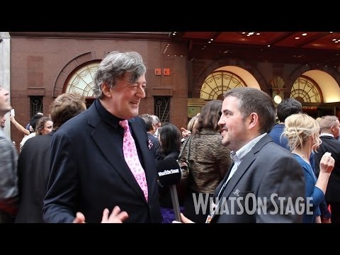 On the red carpet for opening night of Miss Saigon - featuring Stephen Fry and James Corden
