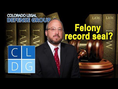 Can you seal a felony record in Colorado?