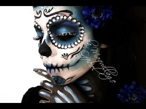 niia hall maquillage santa muerte youtube. Black Bedroom Furniture Sets. Home Design Ideas