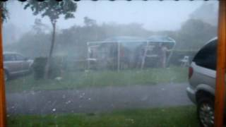 Noodweer all inklusive 23.06.2016 Brabant in Prinsenmeer: Mega Hagel, Storm, Donner, Blitzer