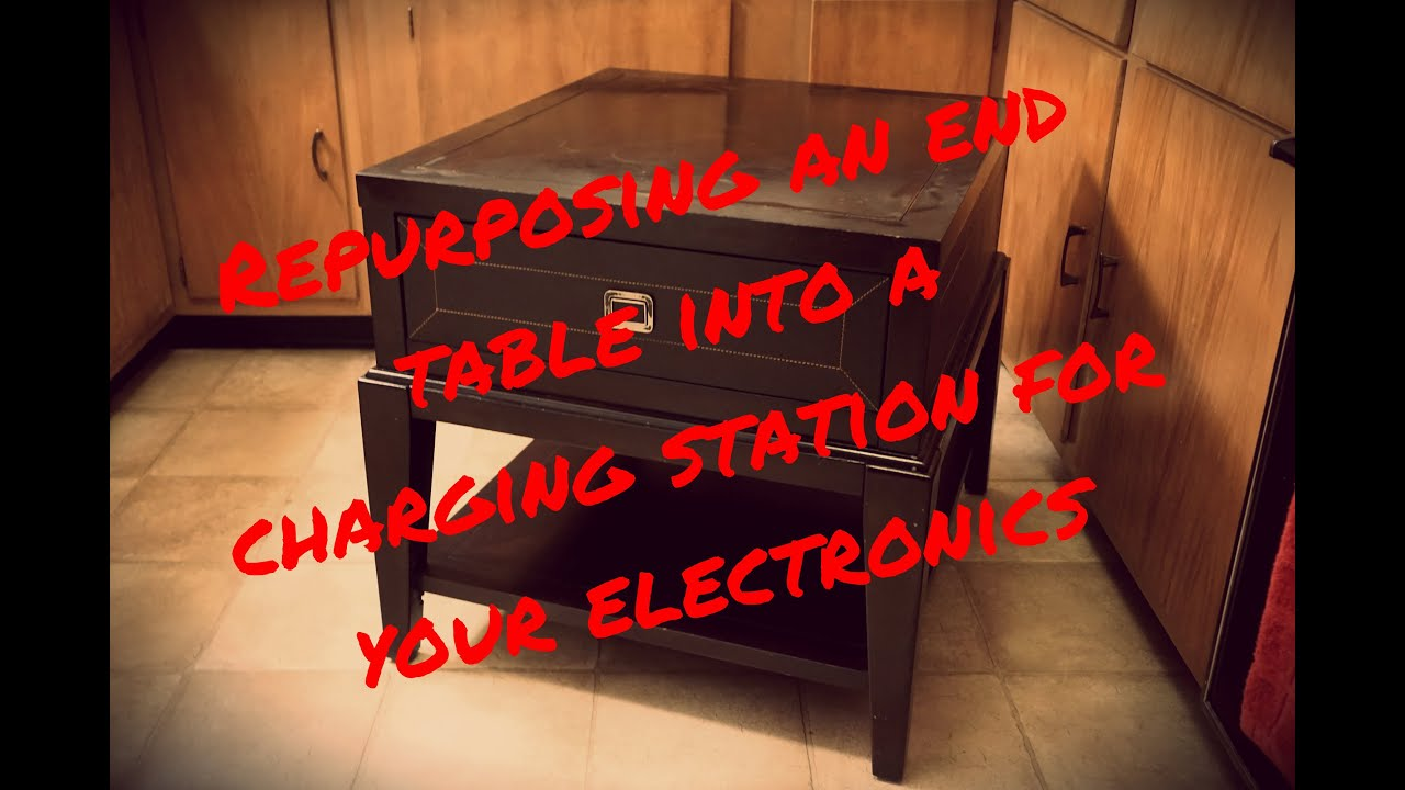 Easy Diy End Table Charging Station Clear The Clutter