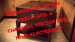 Easy Diy End Table Charging Station - Clear The Clutter & Get Organized!