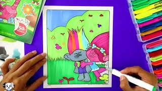 Coloreando Páginas de los Trolls Paginas de Colorear de los Trolls Rapido