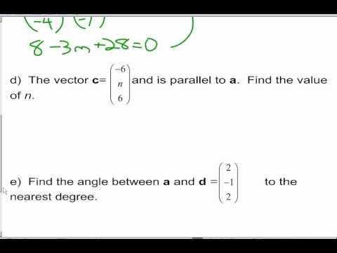 IB Math SL Vectors and Matrices Review - Topic 4 & 5