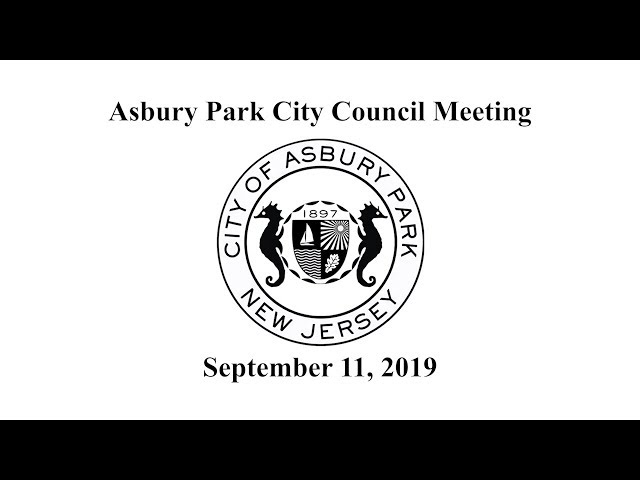 Asbury Park City Council Meeting - September 11, 2019