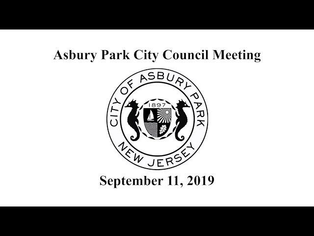 Asbury Park City Council Meeting - September 11, 2019