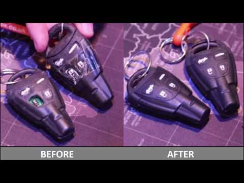 Saab 9-3 Key Repair yourself for £7 – Replace Case, Repair Missing or Broken Buttons