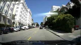 Driving Some Steep Hills San Francisco CA ITB100-HD Dash Cam H…