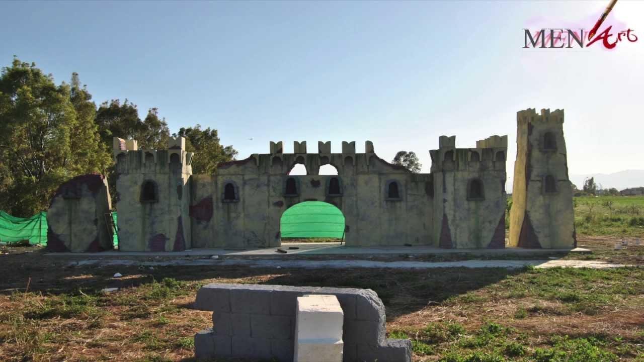 Castello in polistirolo menart youtube for Scenografie in polistirolo