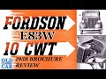 1938 Fordson 10cwt E83w Van Brochure Review