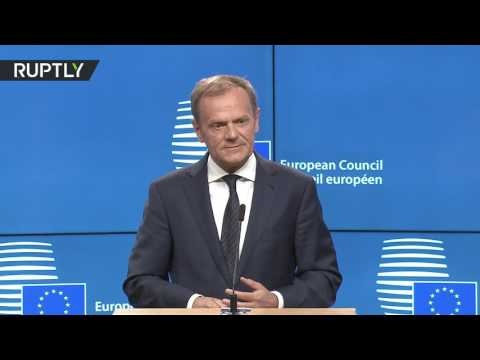 Tusk on Brexit: 'No reason to pretend this is a happy day'