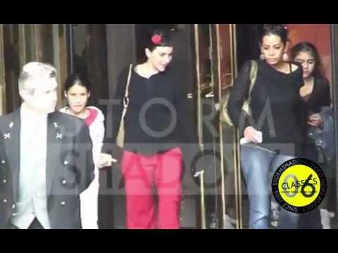 EXCLUSIVE - Madonna and her children in Paris
