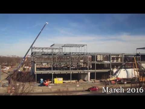Arts & Sciences Building Construction Time lapse 2015-2017 ~IUN~