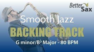 موسيقى الجاز السلس دعم المسار G minor/Bb الرئيسية 80 نبضة في الدقيقة