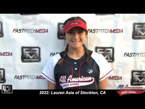 2022 Lauren Asia Catcher, Second Base and Outfield  Softball Skills Video - AASA - Asia