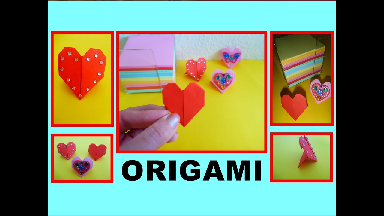 DIY ORIGAMI HEART, QUICK & EASY GIFT GUIDE FOR DAD FATHER ...