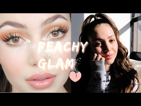 Peachy Glam Makeup & Hair Tutorial! ♡ Nathalie Paris thumbnail