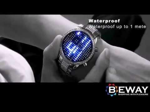 Blue Crystal LED часовник - Sapphire