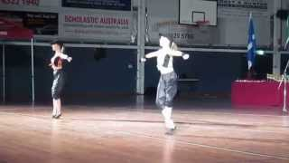 Hobart Highland Dancers: Sarah Bourke and Acacia Bingham