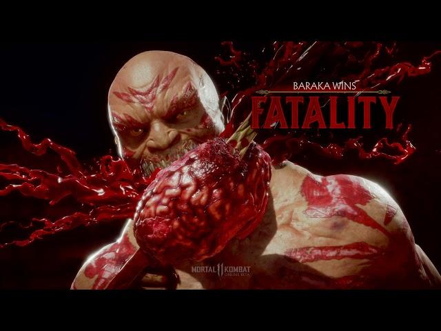 Mortal Kombat 11 Beta: Baraka's Fatalities & Brutalities