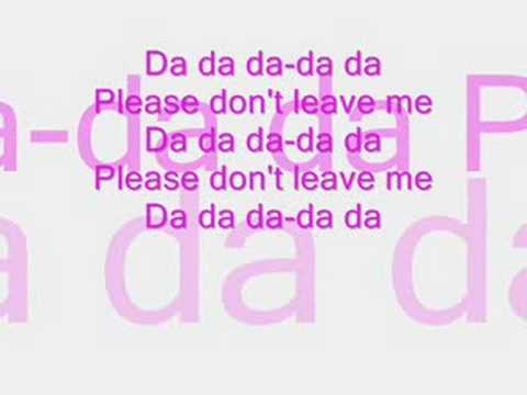 Pink please dont leave me song lyrics