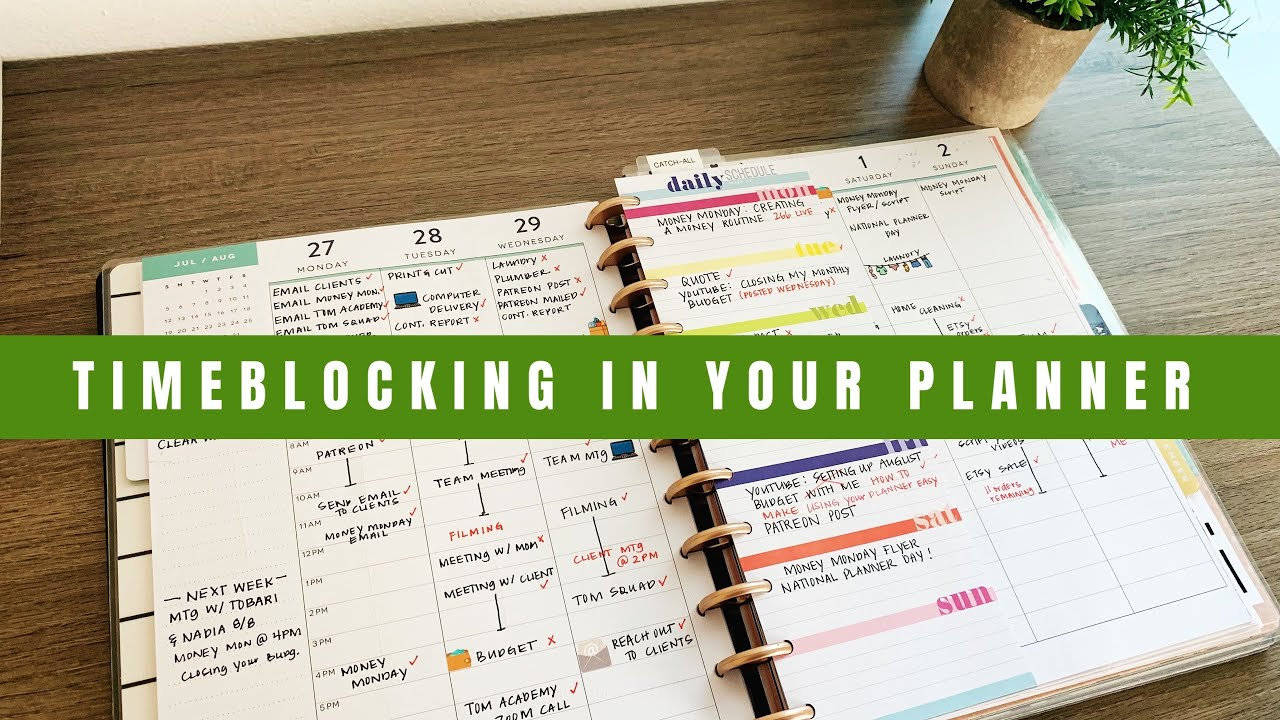 Timeblocking In Your Planner