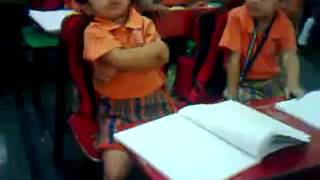 Must watch super comedy a little girl sleeping in class room LKG funny moments