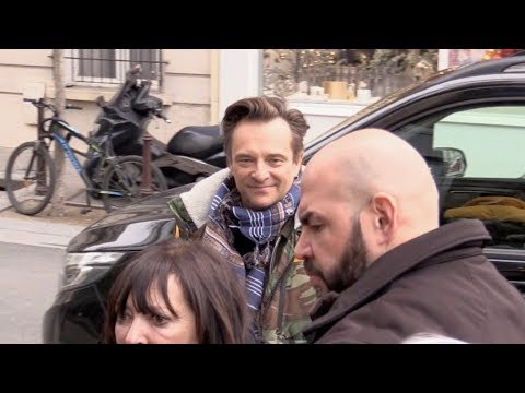 EXCLUSIVE : David Hallyday at RTL radio station in Paris