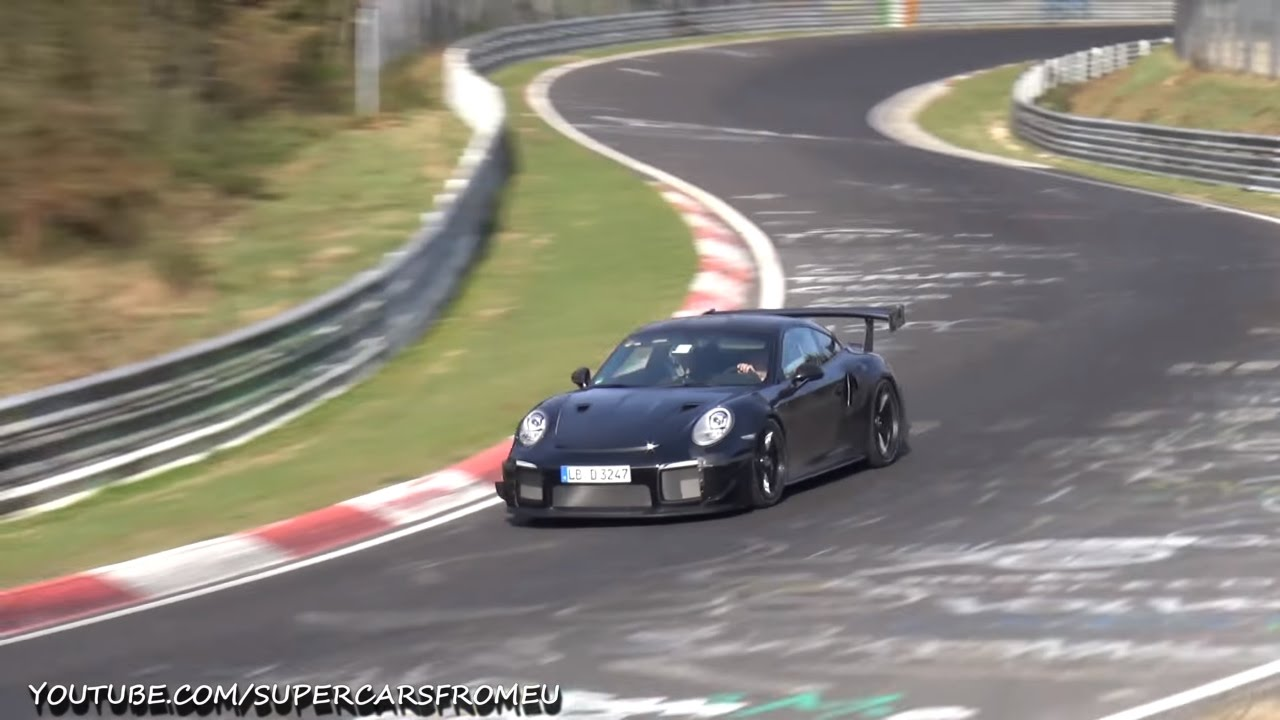 2018 porsche 911 gt2 rs spied testing on the nurburgring nordschleife youtube. Black Bedroom Furniture Sets. Home Design Ideas