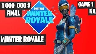 Fortnite Winter Royale GRAND FINAL Game 1 NA Highlights [Fortnite Tournament 2018]
