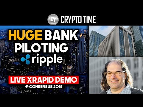 HUGE Bank to start piloting xRapid?! - First EVER demonstration of xRapid at Consensus 2018!